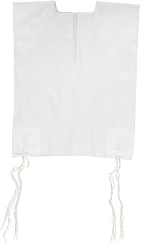 Keter Judaica Mens 100% Cotton V-Neck Tzitzis with Ashkenaz Strings