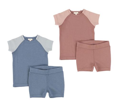 Lil Legs Short Sleeve Raglan Pajamas