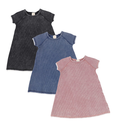 Analogie Denim Wash Short Sleeve Dress