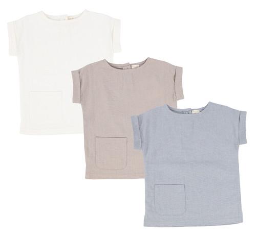 Analogie Boys Linen Pocket Shirt
