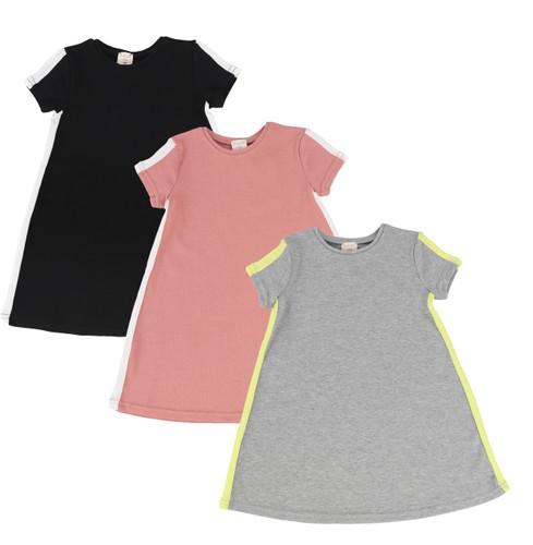 Analogie Short Sleeve Linear Dress