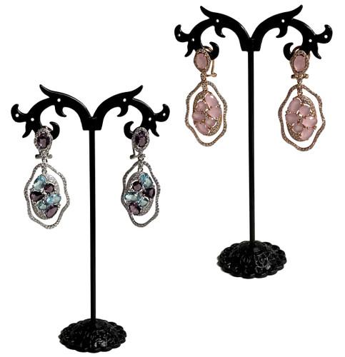 DBL Twisted Oval Earrings