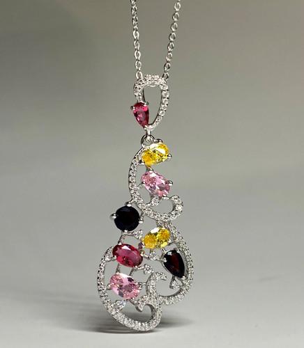 Filigree PYB Rhinestone Necklace (SET83269PW)