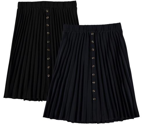 Women's Button Pleat Skirt