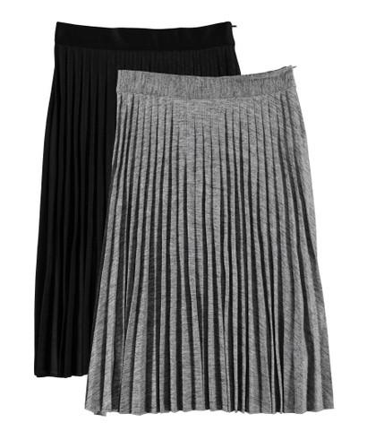 Women's Metallic Pleated Skirt