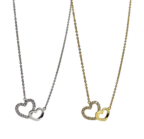 DBL HEART NECKLACE