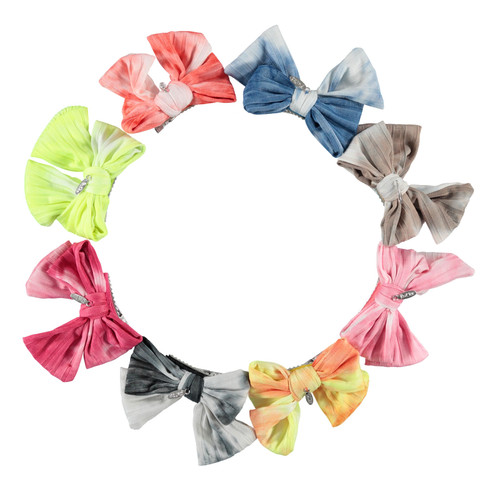 Tie-Dye Bow Small Clip