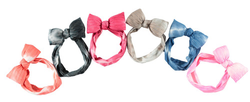 Tie-Dye Puffy Bow Baby Headband