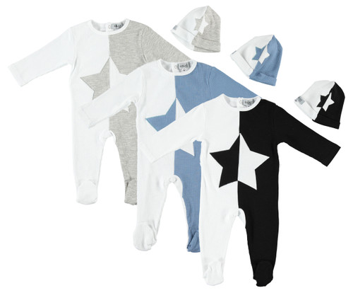 Ribbed ColorBlock Star 2pc Stretchy Set