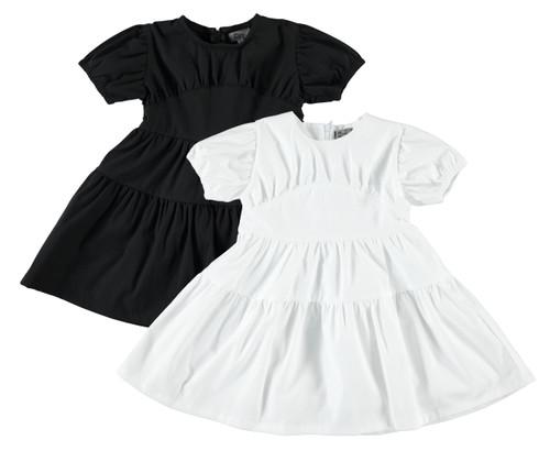 Girls Puff Sleeve Yoke Dress
