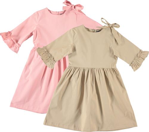 Girls Ruffle Sleeve Shabbos Dress