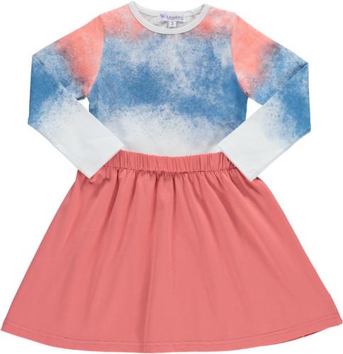 Girls Watercolor Cotton Dress