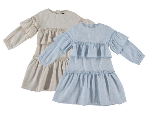 Girls Layered L/S Shabbos Dress
