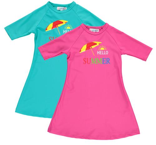 Girls Hello Summer Swim Dress