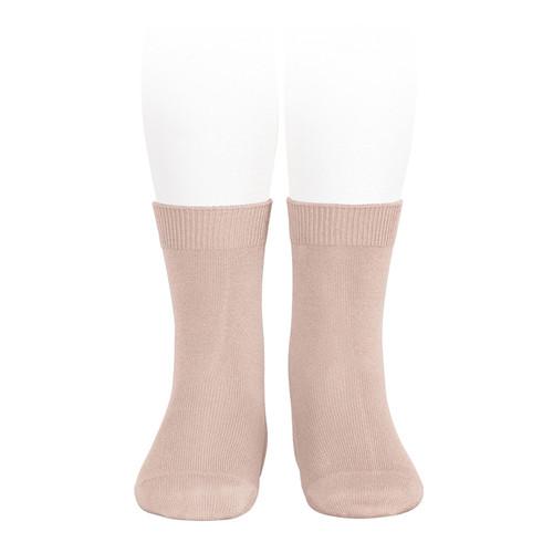 Boys Girls Old Rose Unisex Flat Ankle Socks