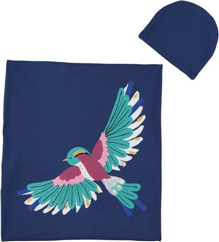 Baby Girls Bird Blanket & Hat