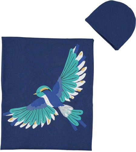 Baby Boy's Bird Blanket & Hat