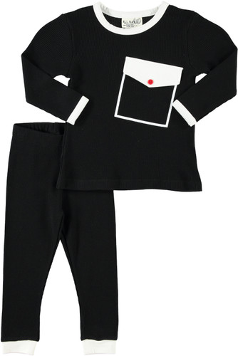 Waffle Big Pocket 2 Pc Pajama
