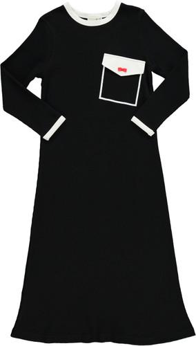 Girls Waffle Big Pocket Nightgown