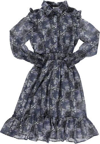 Women's Chiffon Dress in Abstract Butterfly