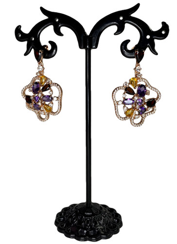 Rose Gold Flower Earrings (SET83621EW)