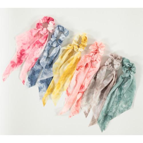 Girls Tie Dye Scrunchy w/Tails
