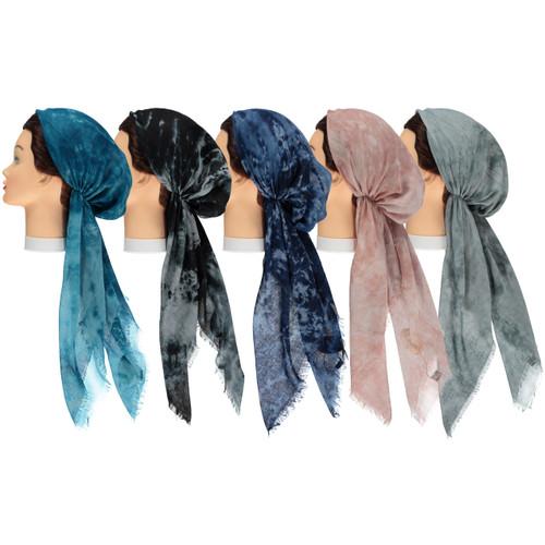 Woman Tie Dye Pre-tied Headscarves