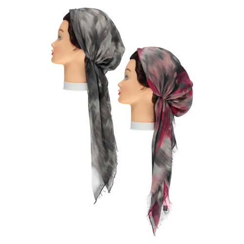 Woman Airbrush Pre-tied Headscarves