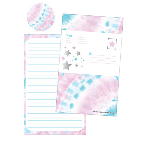 Silver Star Tie Dye Fold over Cards 760-1163