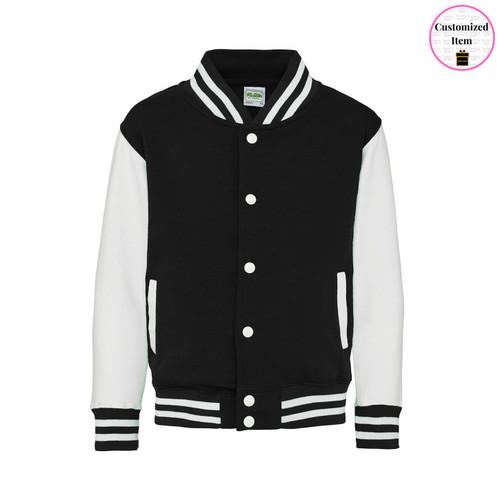 Varsity Youth Jacket Black/White