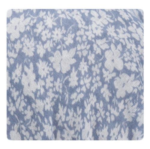 Riqki Open Powder Blue Mini Flowers Israeli Tichel-Y1222-OPEN