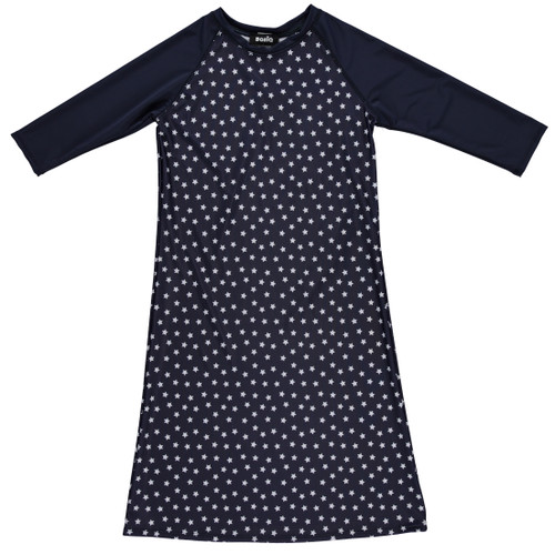 Girls Stars/Navy Swim Dress Cover up