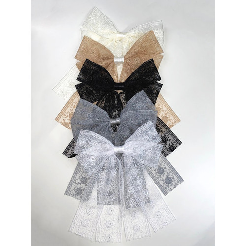 Girls Lace Bow Clip