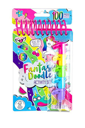 Fantasy Doodle Compact Portfolio & Marker Set - 12730