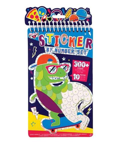 Dino Sticker by Number Portfolio Set - 12454