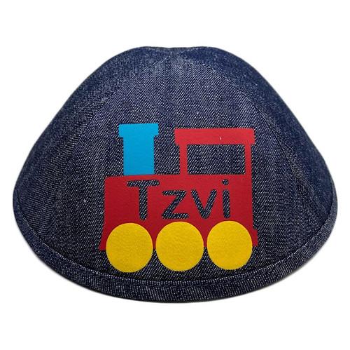 Yarmulka w/ Vinyl - Name in Train