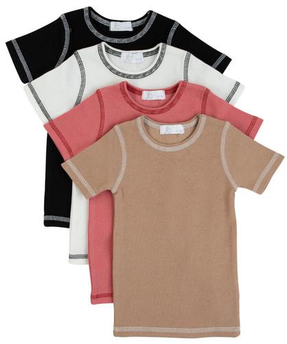 Contrast Seam Short Sleeve T-Shirt