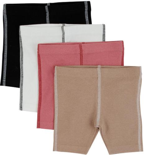 Contrast Seam Ribbed Shorts