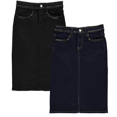 Women's Denim Pencil Skirt