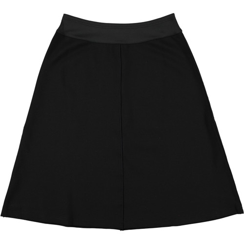 Women's Ponti Black Skirt