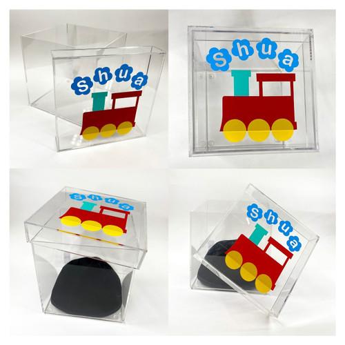 Vinyl Train Clear box