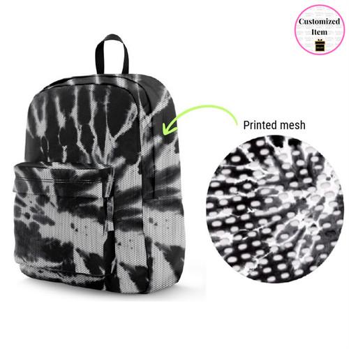 MESH Black/White Tie-Dye Backpacks