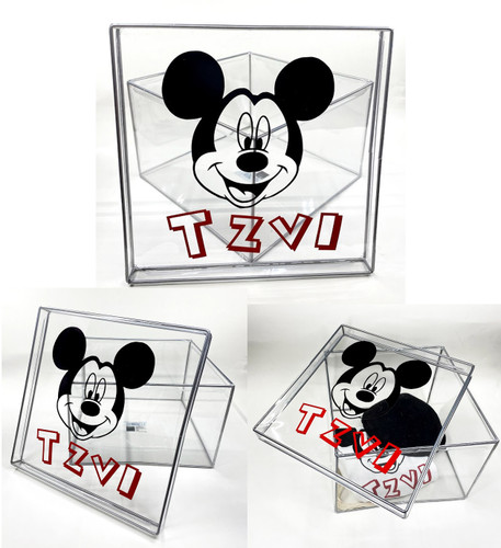 Vinyl Name Mickey Mouse Clear Box.