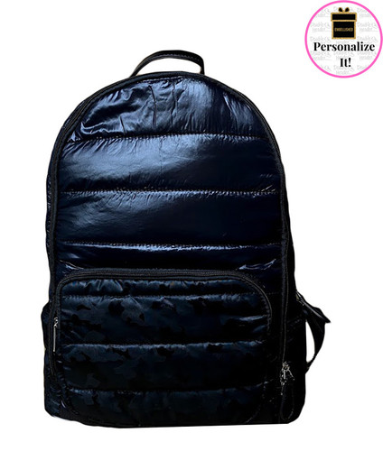 Bari Lynn Black Puffer Backpack - BLBPB
