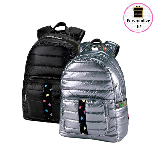 Puffer Backpack with Scatter Star Strap