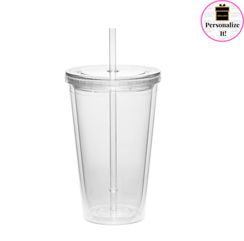 Clear Double Walled Tumbler - T196063