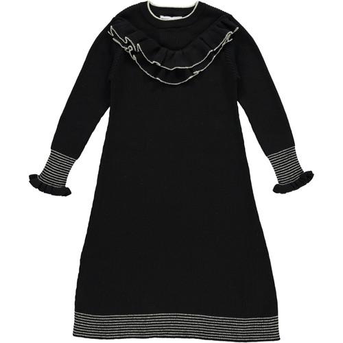 Girls Metallic Striped Border Dress