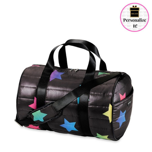 Top Trenz Multi Star Puffer Duffel Bag