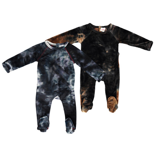 Baby Velour Tie Dye Stretchy