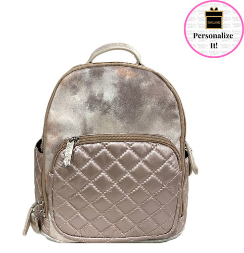 Bari Lynn MINI Quilted Rose Backpack
